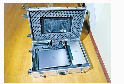 配置有便携式扫描笔等设备的移动终端执法箱示意图