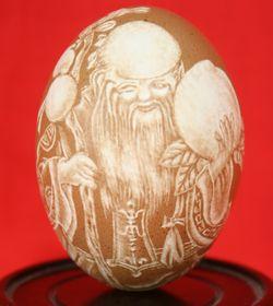 精美绝伦:叶雕。蛋雕 - 芦楠 - 人在旅途