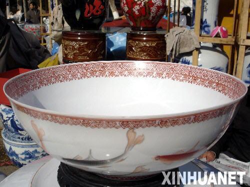 景德鎮薄胎大瓷碗亮相 碗邊厚度僅0.275厘米